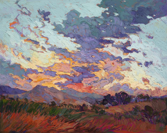 Vibrant Cloud Contemporary Impressionism by Erin Hanson