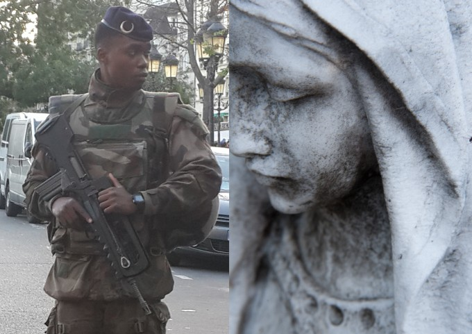 Paris, Paris november 2015 attacks, french army, mont martre cemetry, notre dame