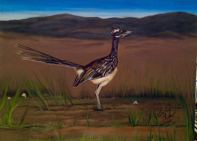 road runner painting