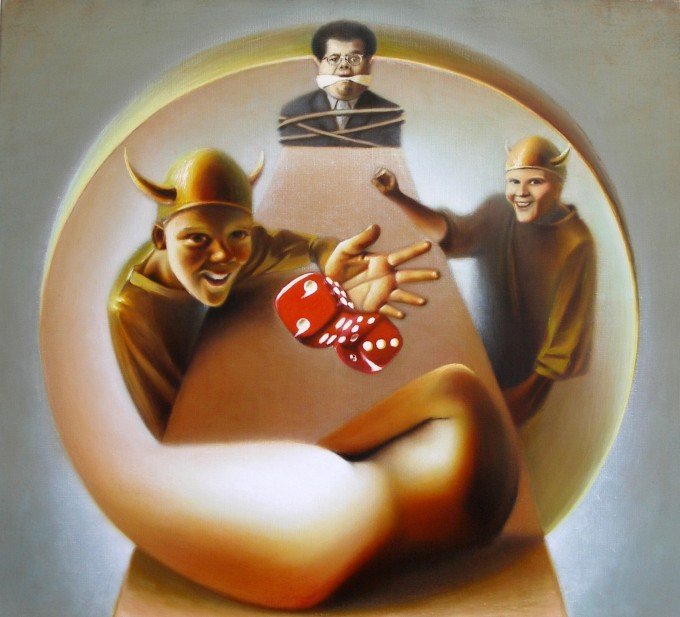 all or nothing,100x110 cm,oilpainting,