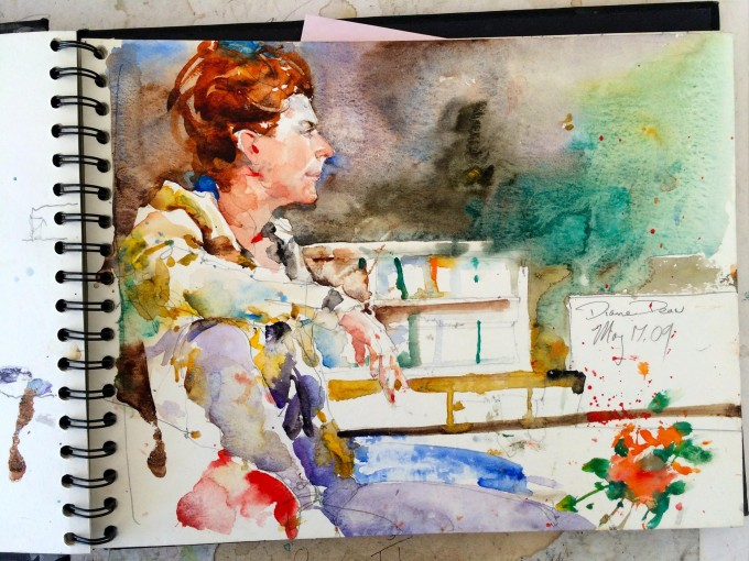 WATERCOLOR PAINTINGS SKETCH BOOK BY CHARLES REID - Art
