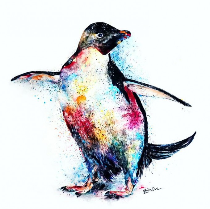 The dancing WWF Penguin, by Emily Tan