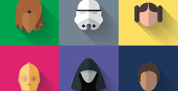 Star Wars - Long Shadow Flat Design Icons