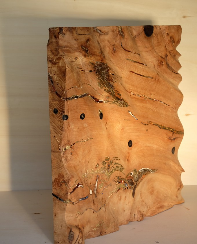 Carré Ethnique - Elm Wood - 60x59x6,5 cm