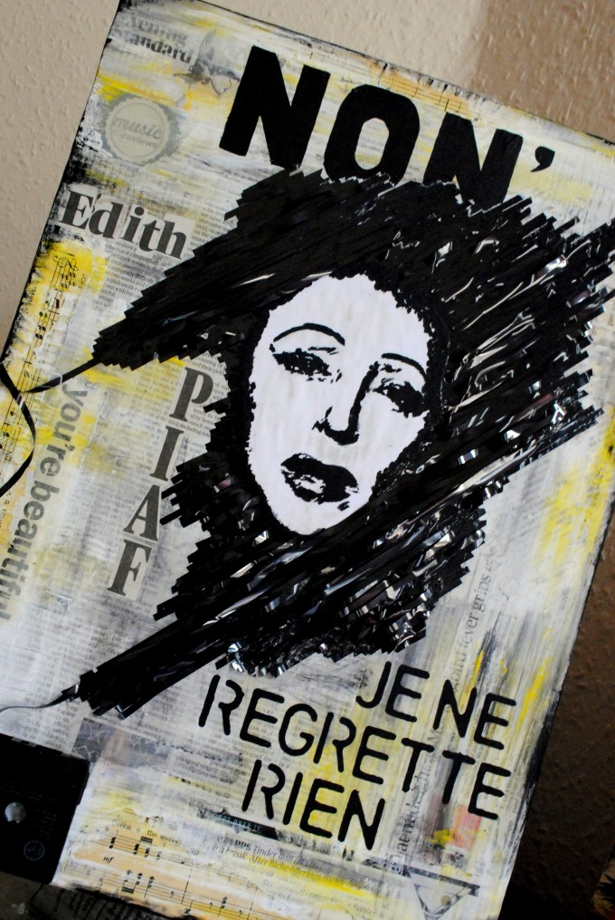 Edith Piaf mixed media collage BASM 5