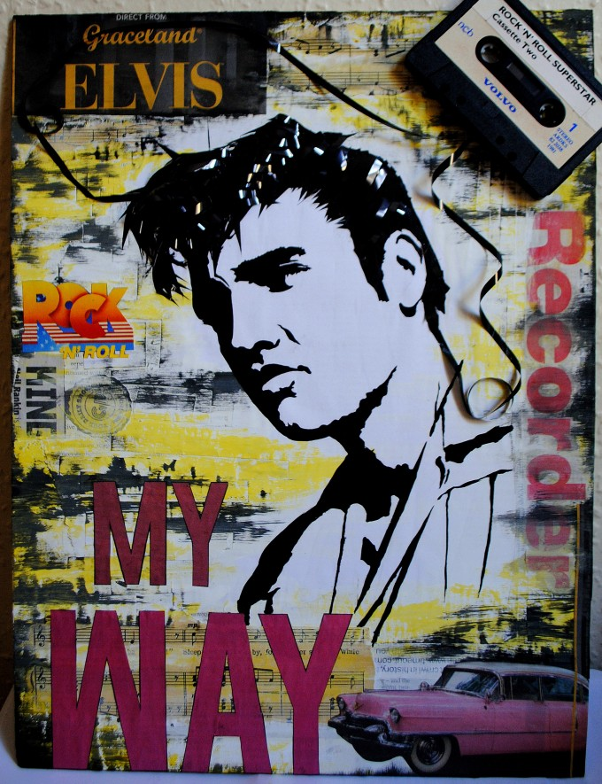 Elvis - My WAY mixed media collage - BASM 8-001