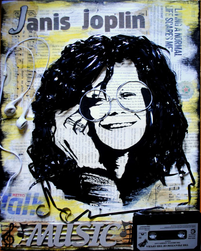 Janis Joplin music mixed media BASM