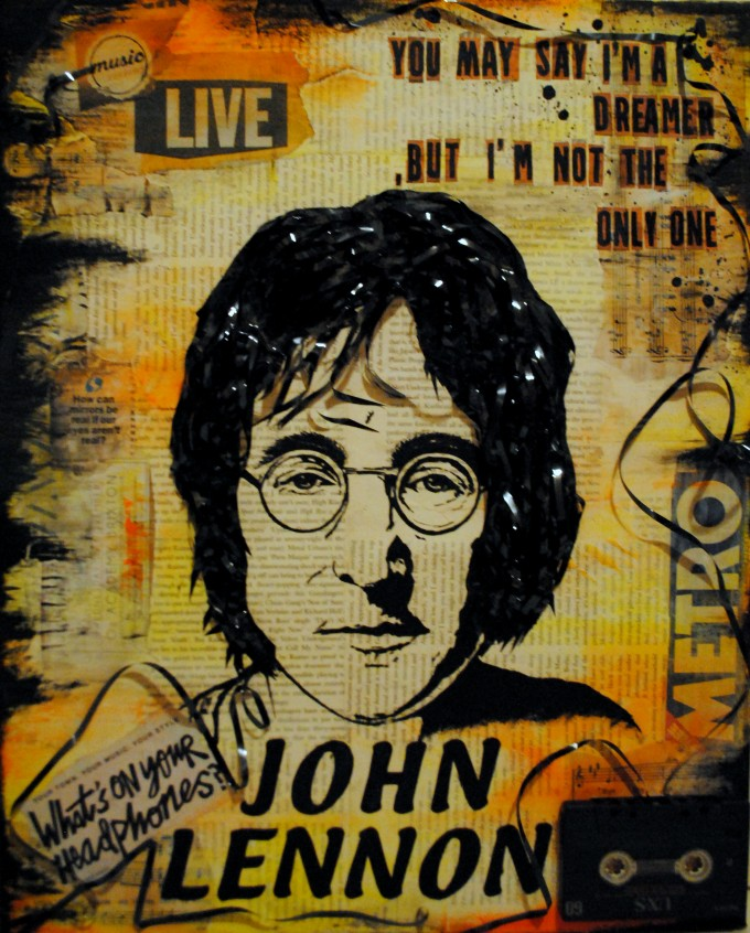John Lennon - George Cosmin - BASM mixed media