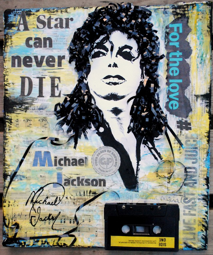 Michael Jackson - A star can never die mixed media BASM 1
