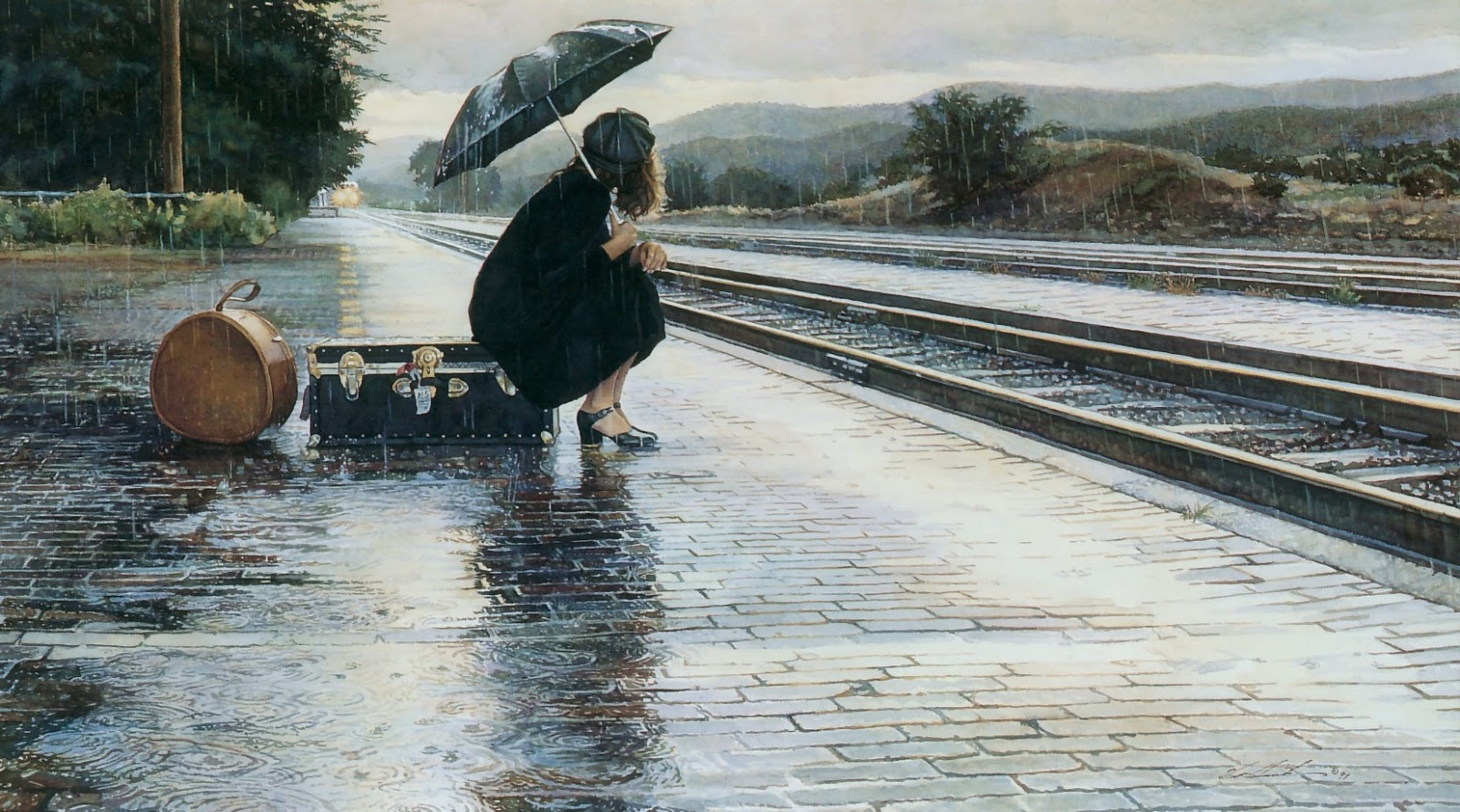 Steve Hanks: inspirational and romantic watercolors 52