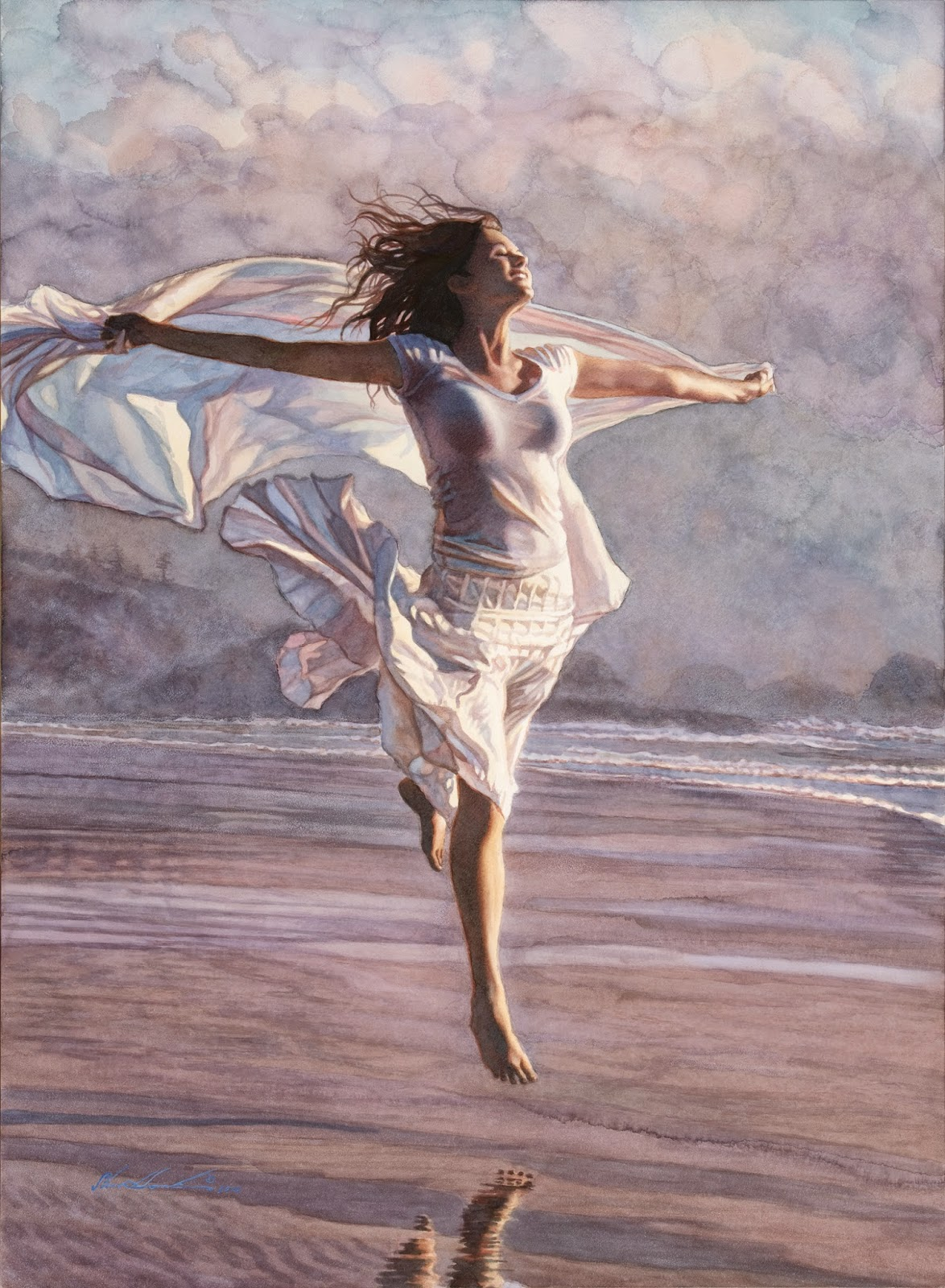 Steve hanks the master of watercolor art people gallery for Photos to paint