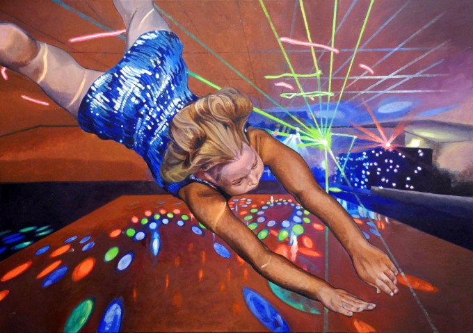 Discotheque, 2014, oil on canvas, 100 x 70 cm