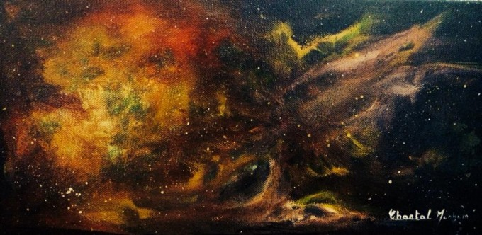 Stardust Acrylic on Canvas -