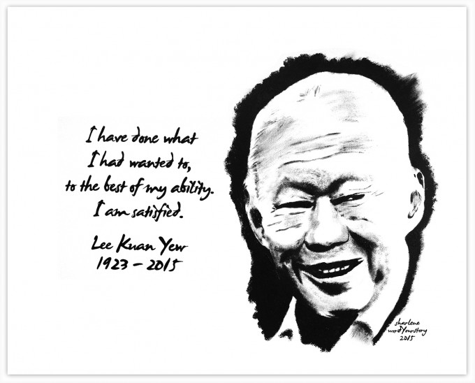 """I have done what i had wanted to, to the best of my ability. I am satisfied."" - Lee Kuan Yew 1923 - 2015"