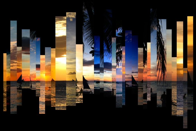 photo montage travel art sunsets beach photography Boracay Philippines