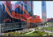AS IF IT WERE ALREADY HERE, BOSTON by Janet Echelman
