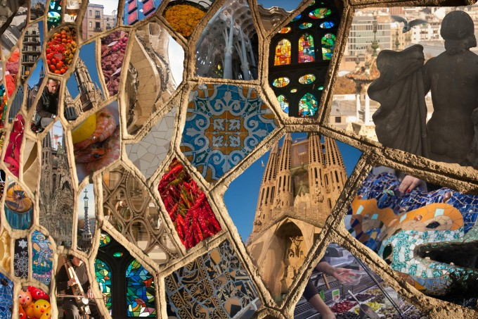 Barcelona Spain Mosaic photography photo montage travel art