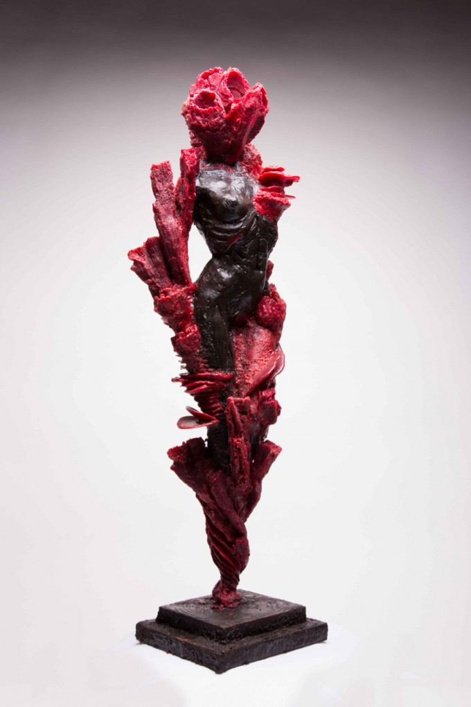 """Coral Column Woman"", Medium: Bronze , Dimensions: 67 x 19 x 12 cm, Edition: 1/7, Year: 2015."