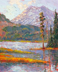Gilded Reflection by Erin Hanson, 2015. Oregon Cascades.