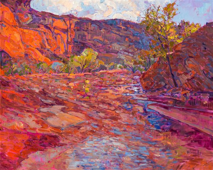 Rainbow Wash by Erin Hanson, 2015. Canyon de Chelly.
