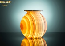 back lighted alabaster vase