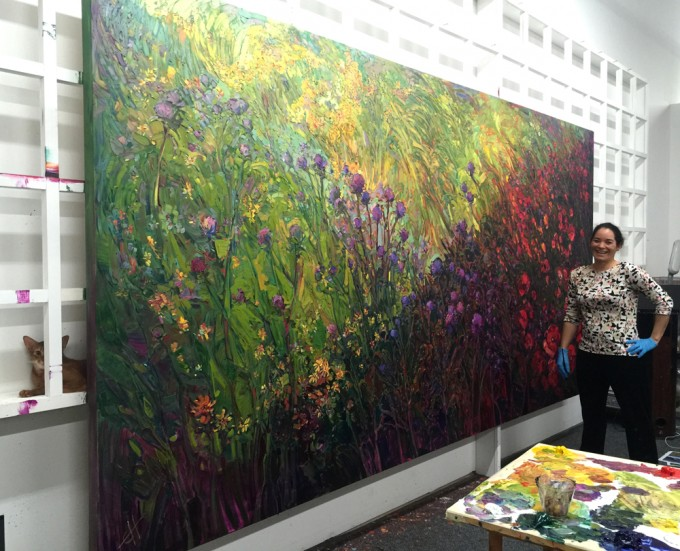 Fields of Bloom In-Progress by Erin Hanson