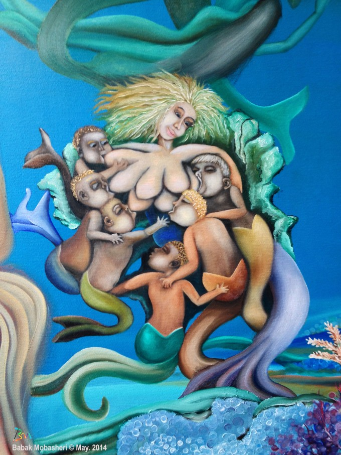 The Mermaids Mother and her chirdren by Babak Mobasheri