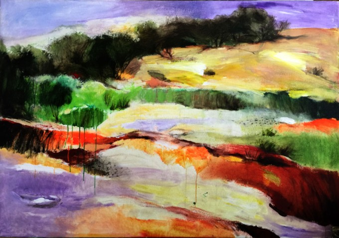 landscape series -10 100 x 140 cm acrylic on canvas2
