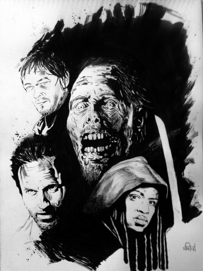 The Walking Dead Poster Ink