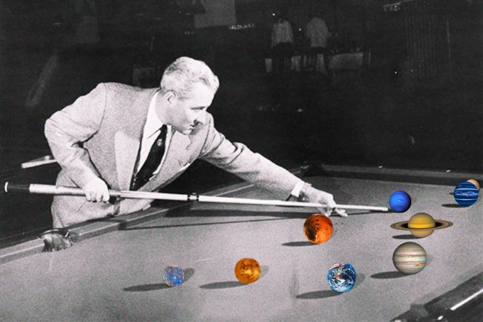 Professional pool player 1941