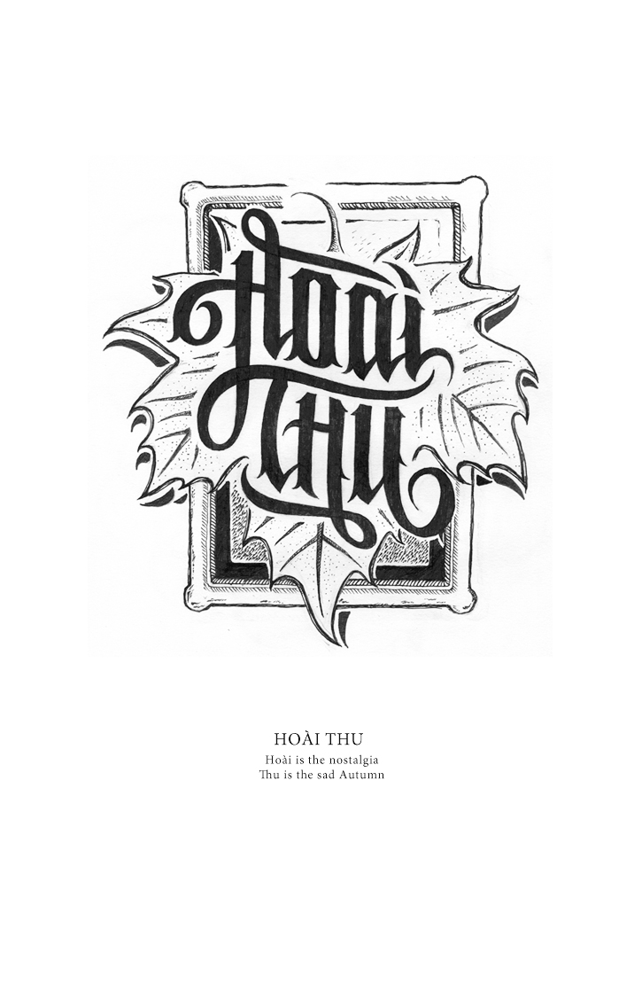 Hand Lettering Vietnamese Name Art People Gallery