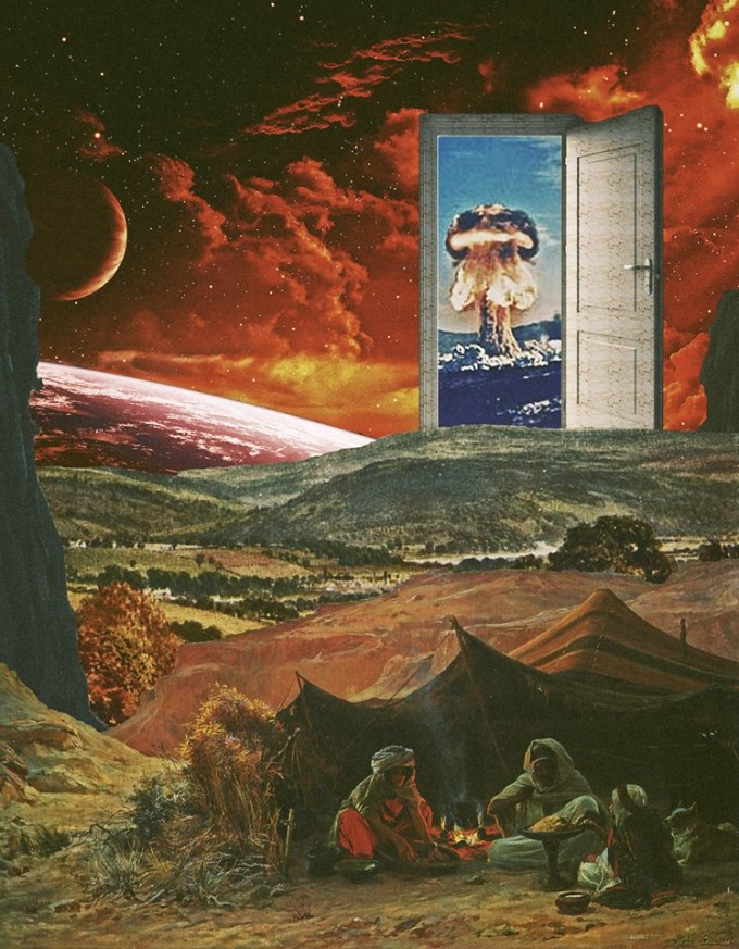 Surreal Mixed media Collage Art