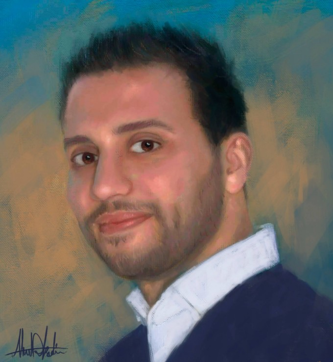 Ahmad Kadi Self Portrait painted