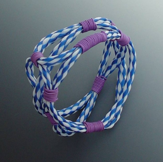 Bracelet - Plastic Rope, Plastic Coated Wire