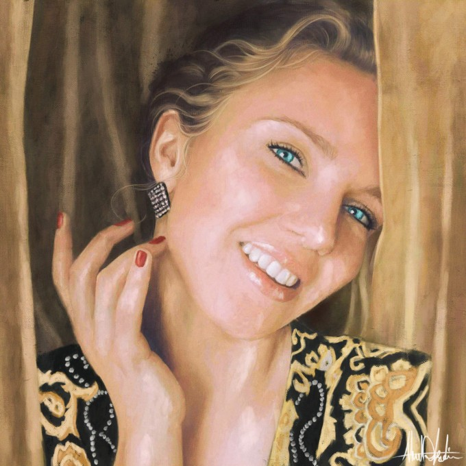 golden Lady smile private commission