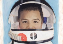 Cute boy wants to be a Astronaut when he grows up
