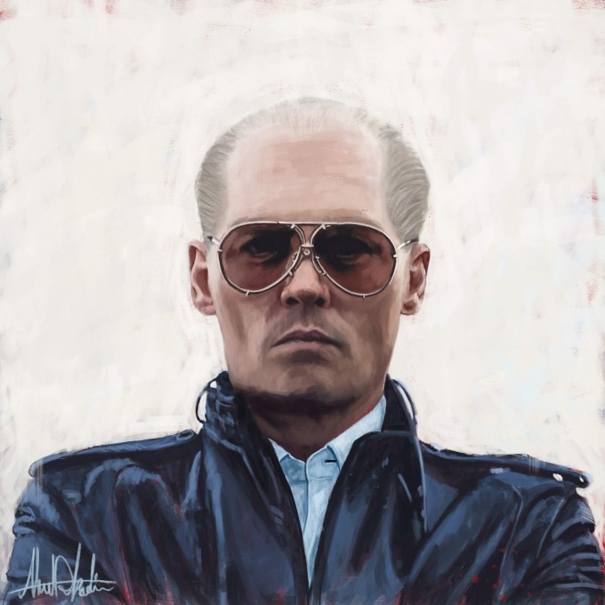Johnny Depp Black Mass Painting Portrait by Ahmad Kadi