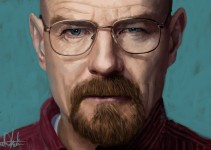 Breaking Bad Walter White Heisenberg Glasses Painting Portrait by Ahmad Kadi