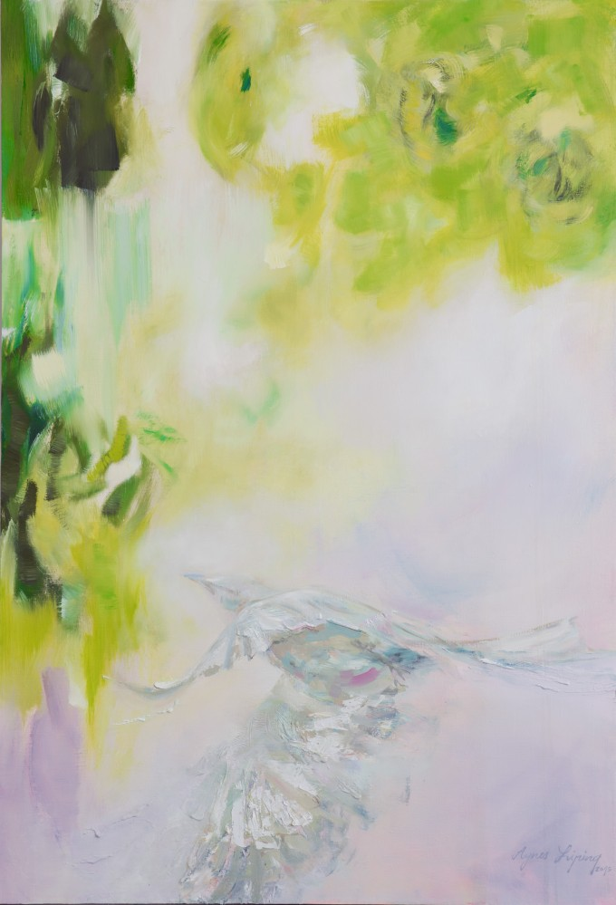 Agnes_Liping_Soul_Bird_oil_on_canvas_160x110cm