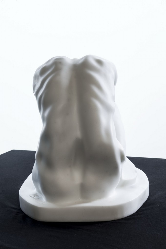 "white marble ""statuario"" of Carrara 30 cm x 47 cm x 25 cm 2014"