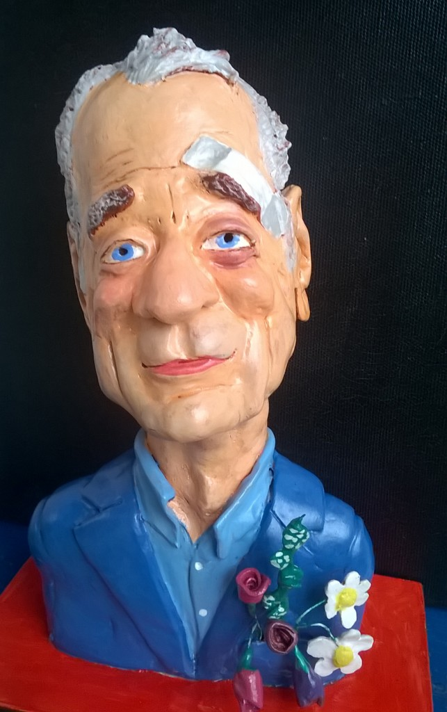 Sculpture caricature of Bill Murray by Zarko Mandic