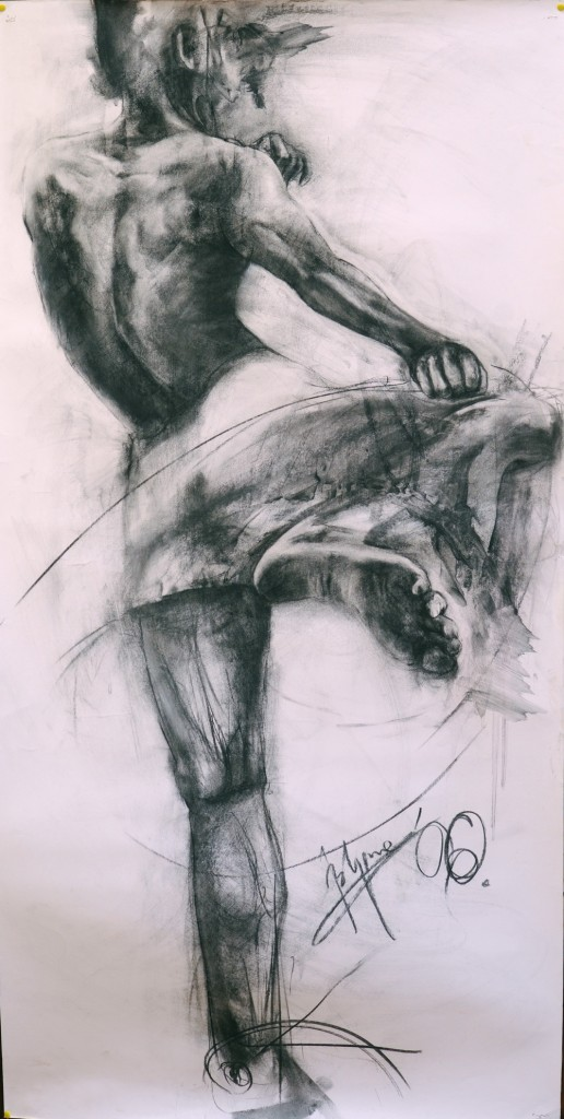 charcoal on paper 150 x 60 cm year,2006