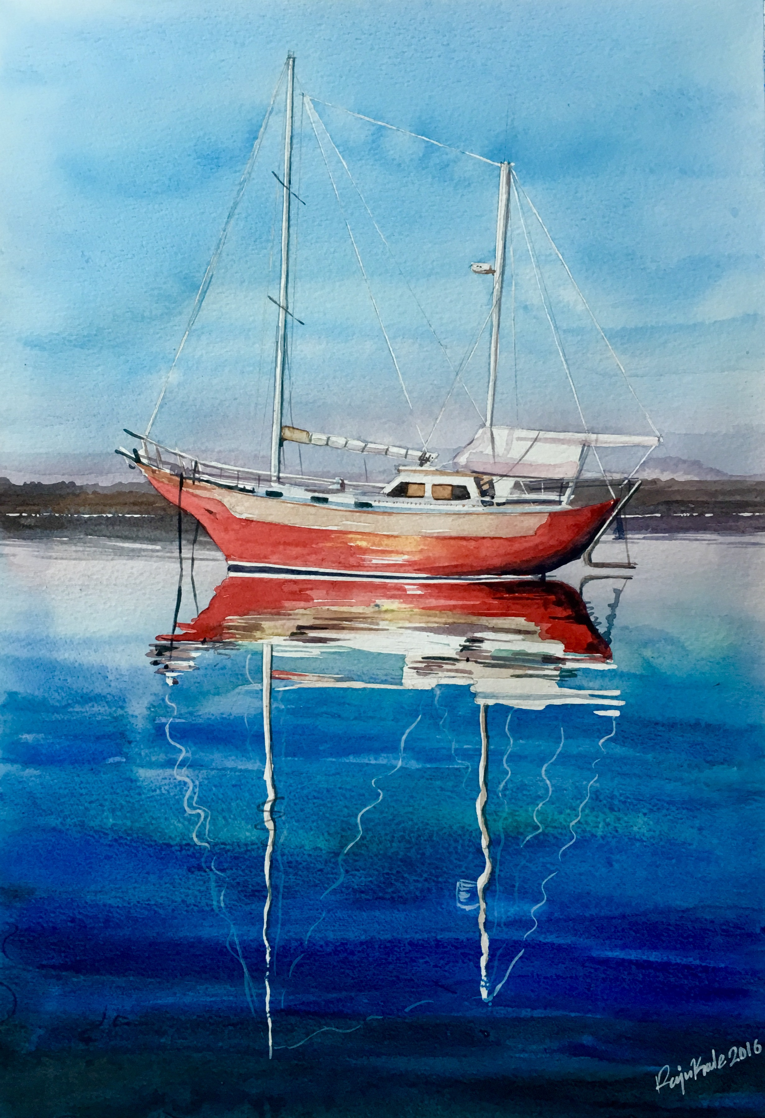 Boat Amp Water Painting Art People Gallery