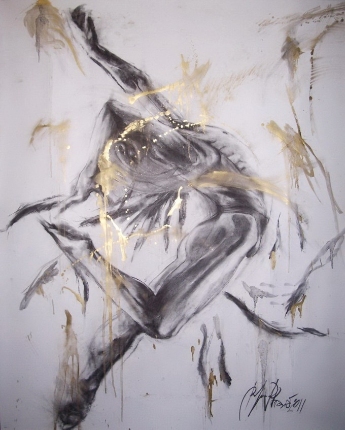 charcoal on paper 150 x 120 cm, year2011