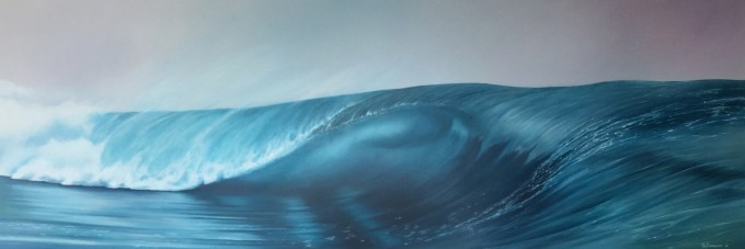 Wave 69 160 x 55 oil on canvas