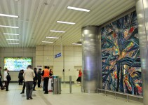 Istanbul-Taksim Funiculer metro station one of 4 giant works of Yucel Donmez