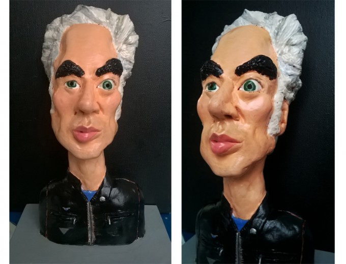 Sculpture caricature of Jim Jarmusch by Zarko Mandic