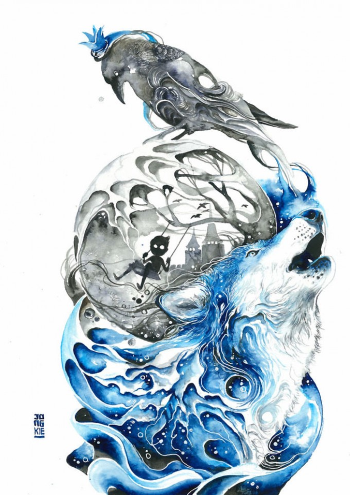 My-Emotional-Feeling-Lead-Me-To-Paint-Animal-Illustration-In-Watercolor1__700