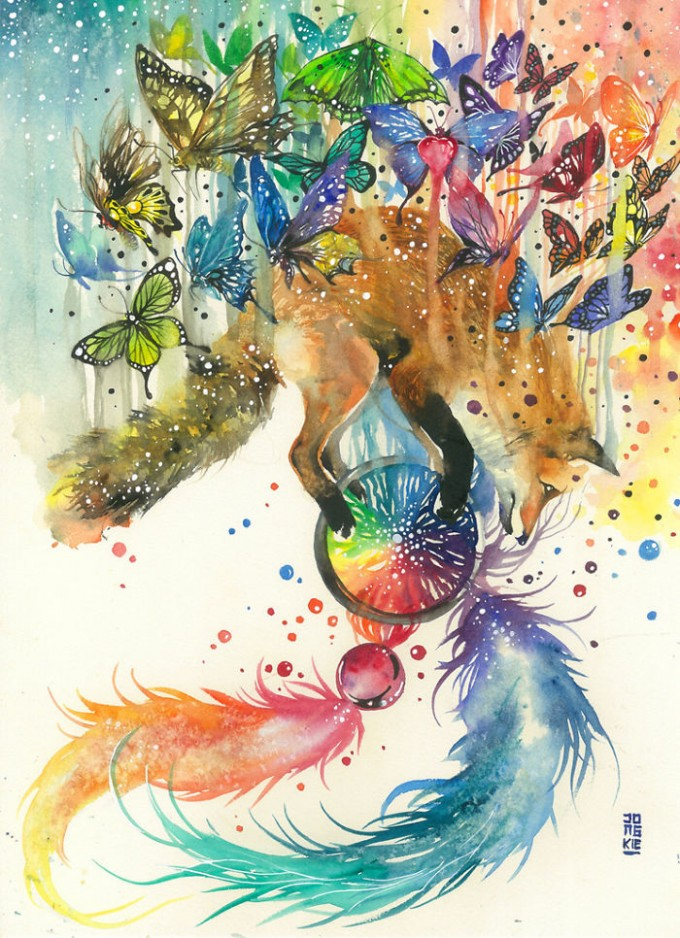 My-Emotional-Feeling-Lead-Me-To-Paint-Animal-Illustration-In-Watercolor4__700