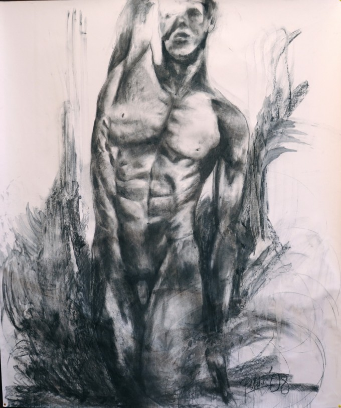charcoal on paper 150 x 120 cm, year2008